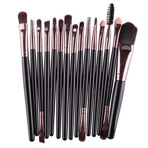 NEW 15 pcs BLACK-ROSE GOLD Pro Makeup Brush Set